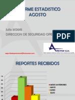 Estadísticas Julio 31