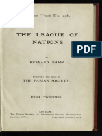 The League of Nations - George Bernard Shaw / Fabian Society (1929)