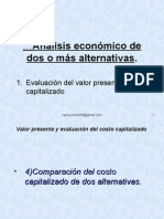 analisis alternativo de una o mas alternativas