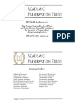 Preserving Digital Content in the Academic Preservation Trust (288507420)