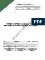Manejo de Carga en Helicopteros Embarque y Desembarque de Pasajeros