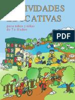 Actividades educativas para niños y niñas de 7 a 11 años