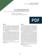 Fiskalna Konsolidacija i Ukupna Faktorska Produktivnost