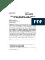 Komparativna Analiza Društvenog Kapitala u Zemljama Zapadnog Balkana