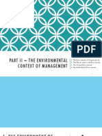 Ch. 3 - The Environmental Context of Management