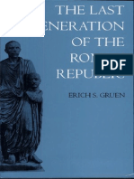 Gruen-The last generation of the Roman Republic