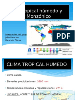 Clima Tropical Húmedo y Ecuador Monzónico