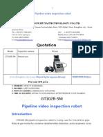 GT102B-S Pipe Video Robot Endoscope Quotation From Spring Xuzhengzhou Jiutai Technology CO.,LTD on Oct 16th 2015 .Doc
