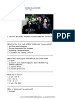 HARRY POTTER and the Goblet of Fire worksheet