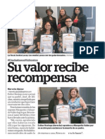 Su valor recibe recompensa