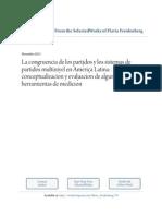 Congruencia de Partidos y Sistema de Partidos Multinivel en America Latina