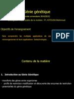 Cours Genie Genetique L3 Partie1