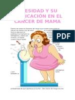 Obesidad y Su Implicación en El Cáncer de Mama