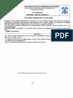 Examenes selectividad dibujo tecnico Madrid 2010-2015