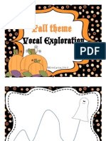 Fall Halloween the Me Vocal Exploration Slides