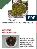 Dolma- Traditional Azerbaijani Meal