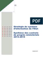 Contrats Progres Ministeriels 2013-2015 0