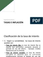 Tasas e Inflación