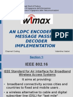 AN LDPC ENCODER AND MESSAGE PASSING DECODER IMPLEMENTATION
