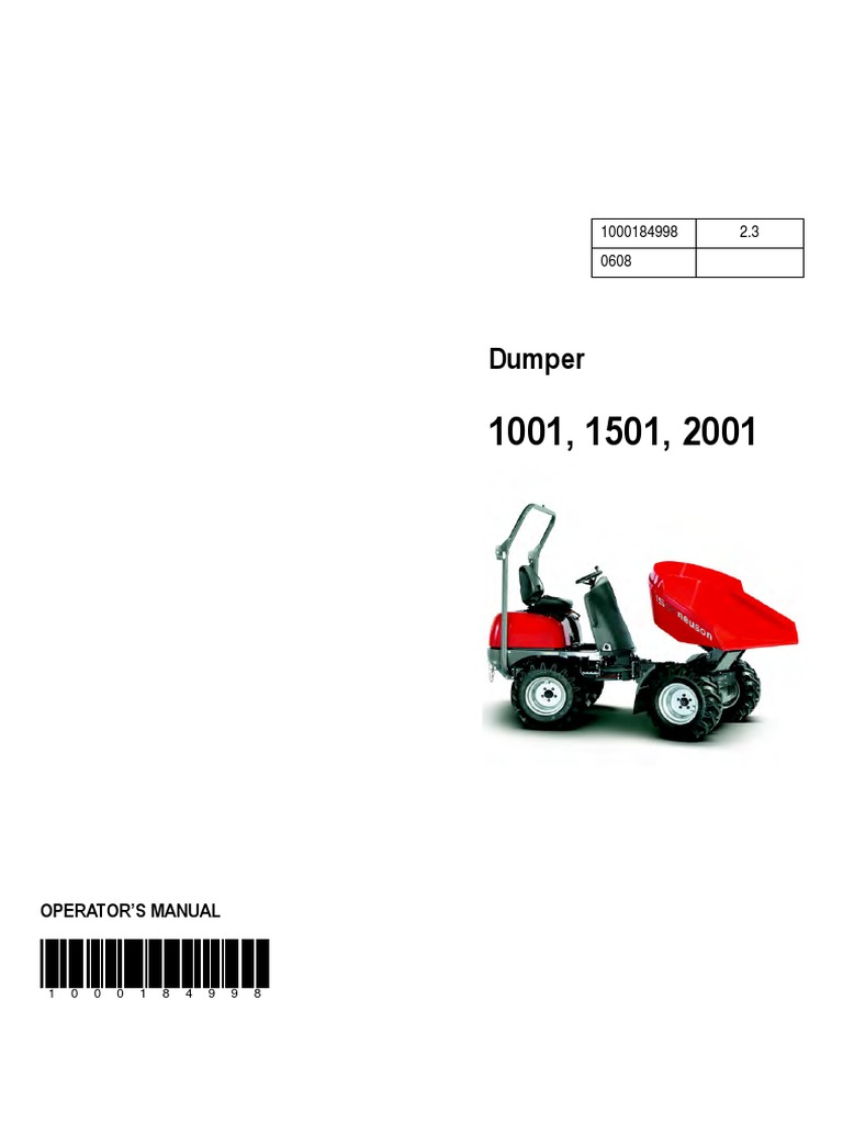 1001 1501 dumper manual neuson internal combustion engine tire rh scribd com neuson lifton 1001 manual