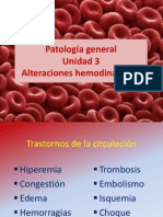 UNIDAD 3 Alteraciones Hemodinámicas