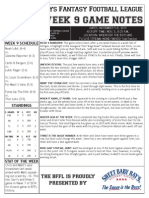 BFFL Notes Week 9