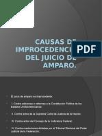 Causas de Improcedencia Del Juicio de Amparo (1)