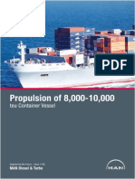 MAN Propulsion of 8 000-10-000 Teu Container Vessel