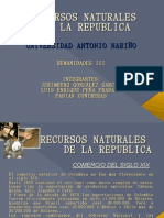 Recursos Naturales de La Republica