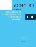 I GRAND RESEARCH HUMAN-COMPUTER INTERACTION IN BRAZIL 2015