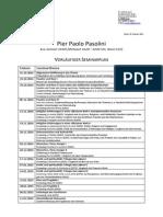 Pier Paolo Pasolini - Seminarplan - W. S