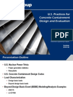 u.s. Practices for Concrete Containment Design and Evaluation