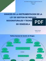 Análisis de Gestión Integral de Riesgos Socionatuales y Antrópicos