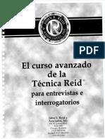 Curso Avanzado Tecnica Reid Entrevista Interrogatorio