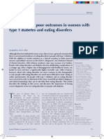 Understanding poor outcomes in women with type 1 diabetes and eating disorders