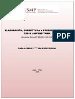 Estructura de Tesis USMP