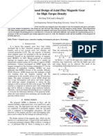 3D Printing Based Design of Axial Flux Magnetic Gear for High Torque Density