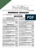 Normas Legales, miércoles 4 de noviembre 2015
