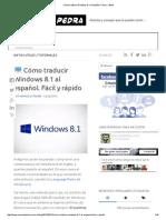 Cómo Traducir Windows 8.1 Al Español