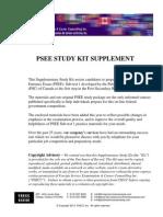PSEE STUDY KIT supplement v10.6