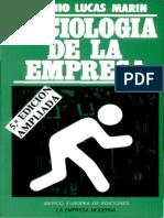 Antonio Lucas Marin Sociologc3ada de La Empresa1