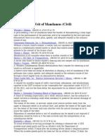 writ of mandamus (civil)