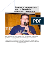 Radu Pietreanu a Compus Un Alt Imn Pentru România