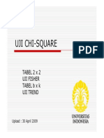 uji chi square + Fisher exact