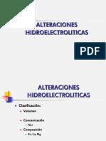 ALTERACIONES HIDROELECTROLITICAS