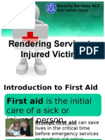 Rendering Service to Injured Victims