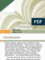 social media training plan