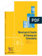 Manual Para La Creacion de Empresas Por Universitarios 2002