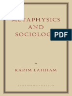 Metaphysics and Sociology