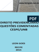 Direito Previdenciário. Questões Cespe Unb Comentadas (3)